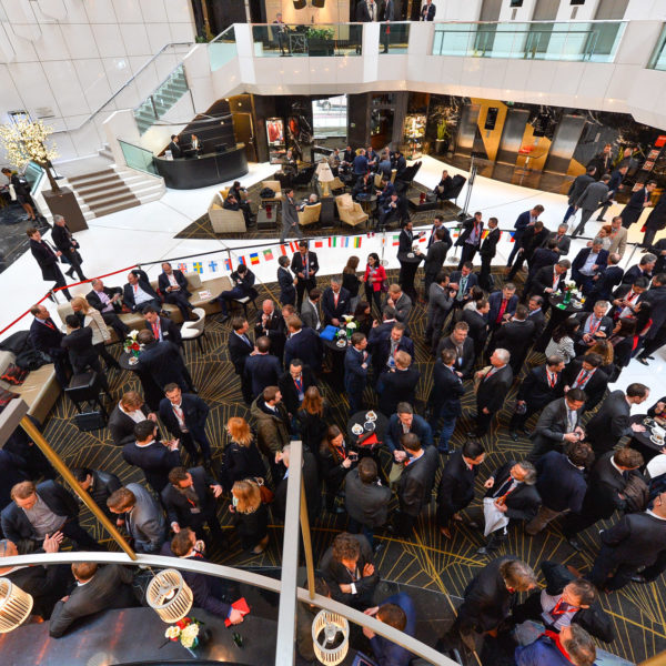Networking cocktail reception during the 100 anniversary
