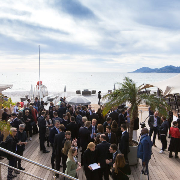 Beach overview during MAPIC networking lunch
