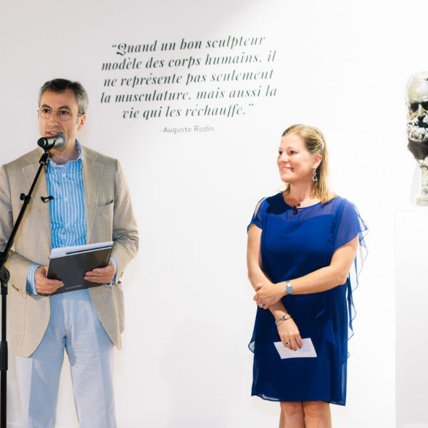 Speech during private viewing rodin exhibition in Miramas