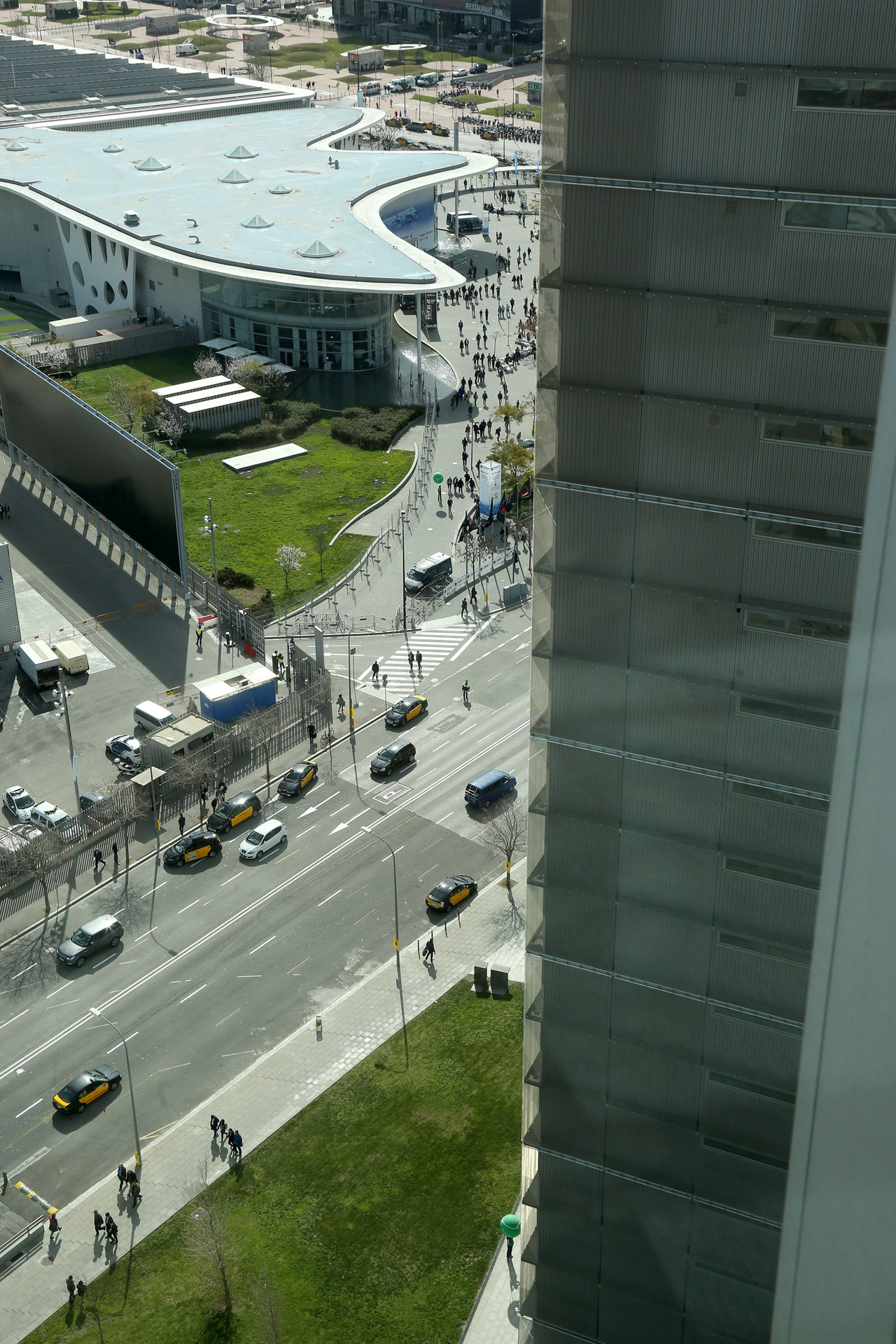 Fira Gran via view from the meeting area