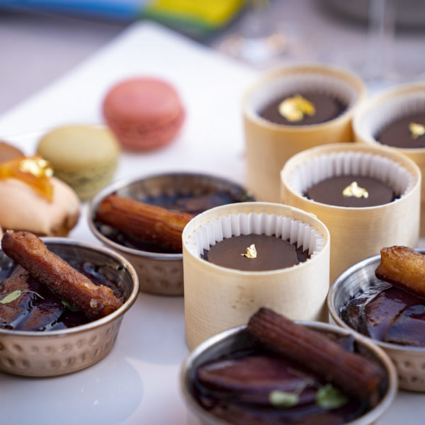 Chocolat desserts on a buffet during a networking lunch during MAPIC