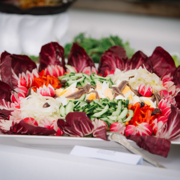 Salad on a buffet during a networking lunch during MAPIC