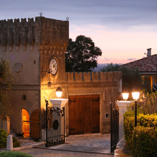Old Castel view at dusk