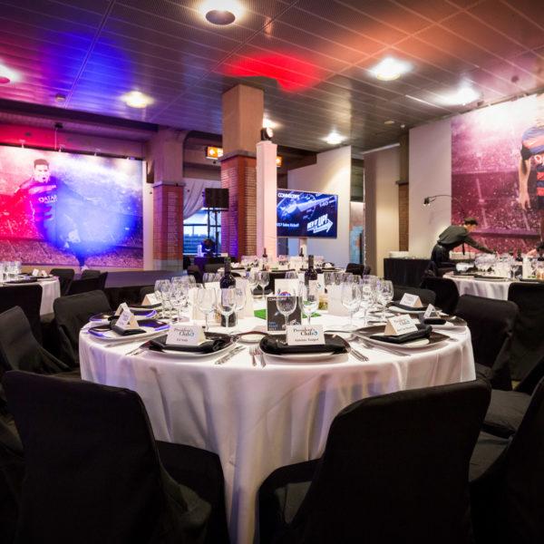 gala dinner at camp nou during sales kick off corporate seminar in Barcelona