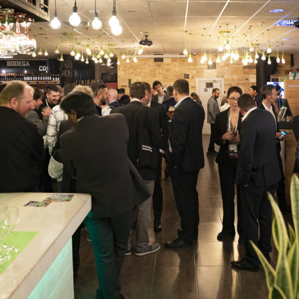 guests mingling upon arrival at the venue