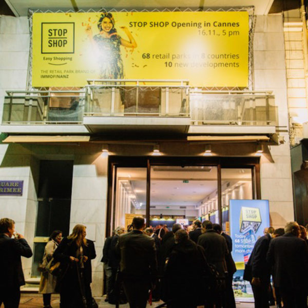 Branding opportunity in front of le palais des festivals