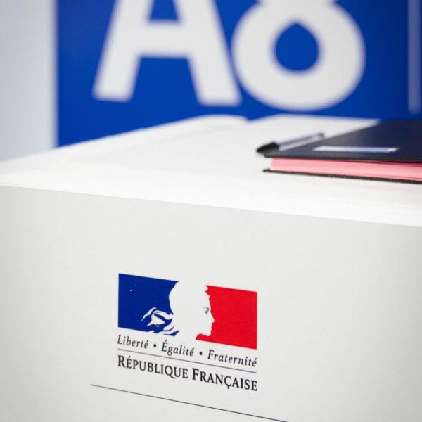A8 motorway agreement signature in Beausoleil near Monaco