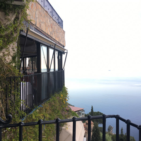 Sea view from the exclusive venue in Eze Village