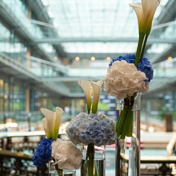 Flower decoration in the venue in Paris