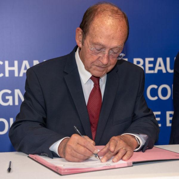 Signature act during ceremony
