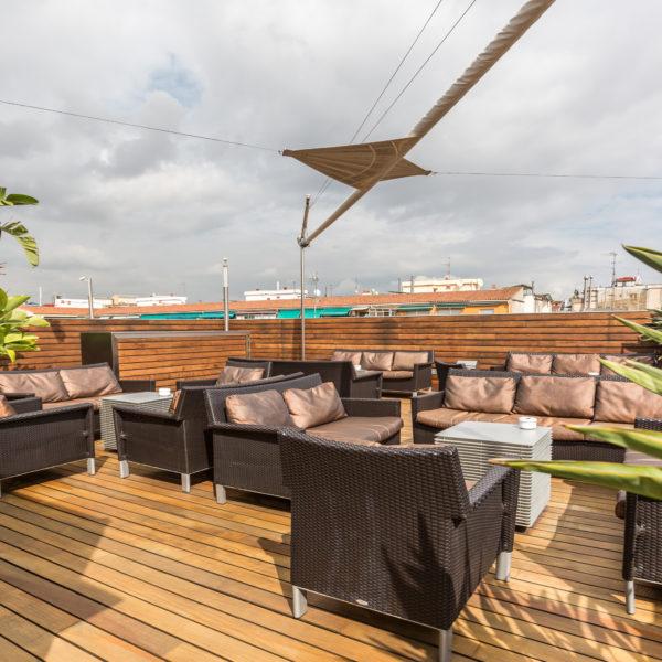 Rooftop terrace barcelona plaza