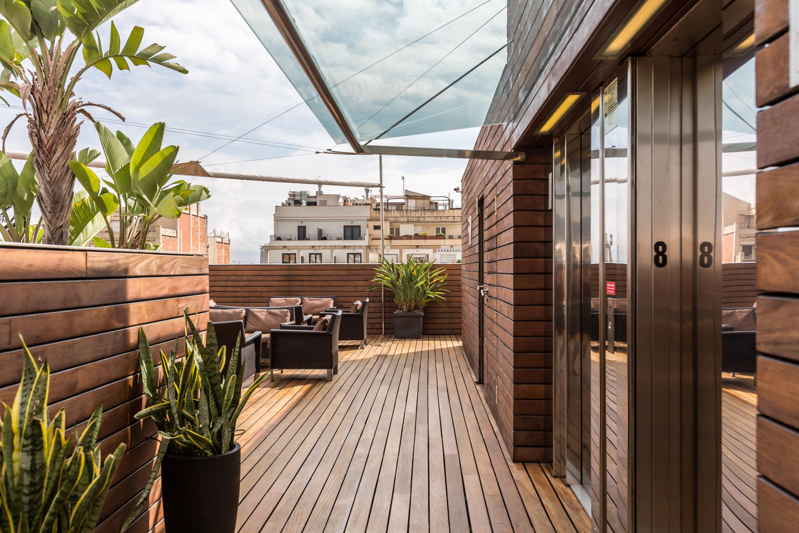 Rooftop terrace in barcelona