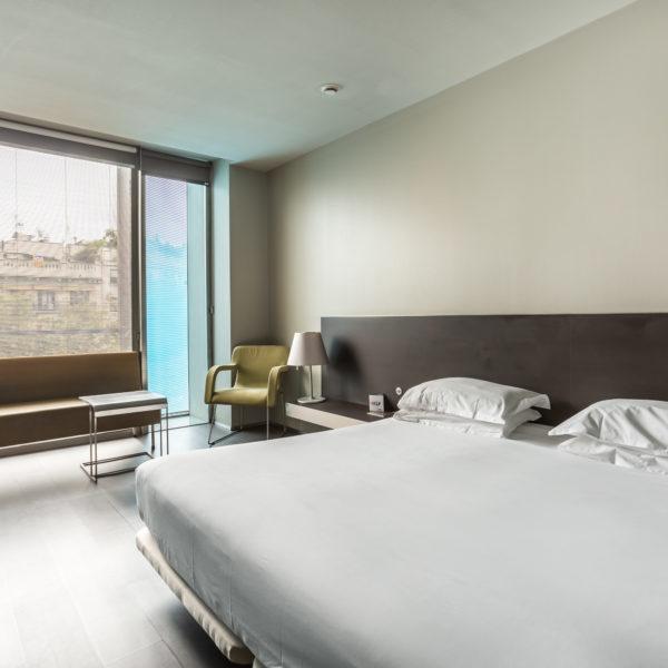 bedroom in hotel in barcelona